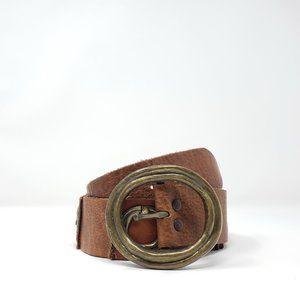 Vintage Vera Neumann Brown Leather Boho Belt
